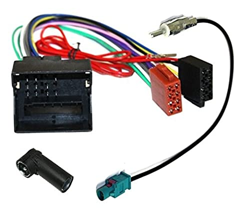 Aerzetix: Car Radio Kit Adapter: Cable Wiring and Aerial Antenna