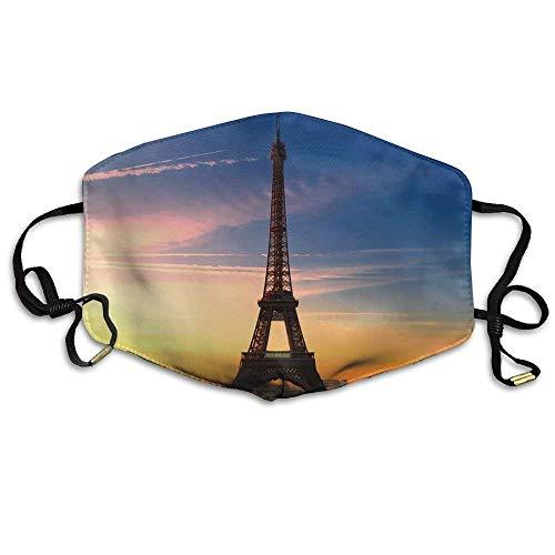 Kostüm Tower Eiffel - Daawqee Staubschutzmasken, France Sun Urban Paris Eiffel Tower Printed Mask Neutral Mask for Men and Women Polyester Dust-Proof Breathable Mask