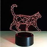 7 Farben Schöne Gehende Katze 3D Lampe Acryl Led Nachtlicht Usb Touch Sensor Licht Kinder Schlafzimmer Licht Kinder Geschenk
