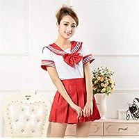 FXC - Uniforme de escuela japonés, ropa para niñas cosplay uniformes marineros estilo marinero Lala ropa de animadora