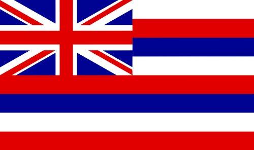 8,4 x 5,4 cm Autoaufkleber Fahne von Hawaii USA Flaggen Aufkleber Sticker fürs Auto Motorrad Handy Laptop
