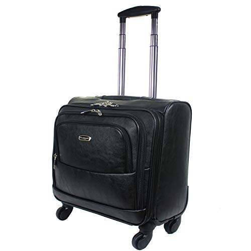 2094cc6a6362 Rocklands London Wheeled Laptop Briefcase Business Office Bag Laptop  Trolley Case Pilot Case Travel Cabin Bag 8833