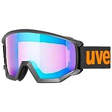 Uvex Unisex's Athletic CV ski Goggles, Black mat, one size