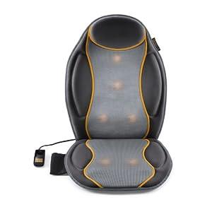 Medisana MC 810 Autositzauflage, Massageauflage mit Vibrationsmassage, 9 Massageprogramme, Massagesitzauflage mit 3 Intensitäten, für Schulter, Rücken, Taillie und Oberschenkel
