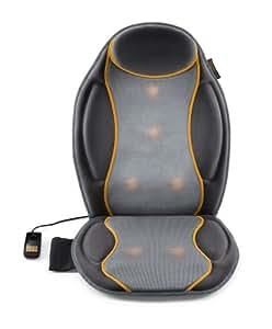 Medisana MC 810  Dispositif de siège de massage par vibration (4 zones de massage), fonction chauffante, adaptateur auto inclus - 88937