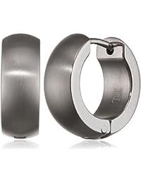 Pure Grey Unisex Creole Earrings Titanium Matte–033