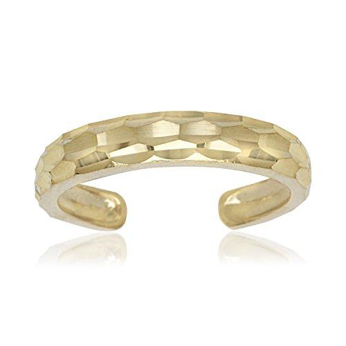 Zehenring, 14 Karat Gelbgold, verstellbar, elegant, glitzernd