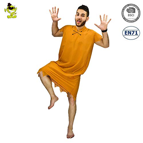 GAOGUAIG AA New Jungle Caveman Cosplay Karneval Kostüme Steinzeit The Croods Fred Feuerstein Primitive Man Wildman Halloween-Kostüm SD (Color : Onecolor, Size : - Fred Feuerstein Kostüm Mädchen