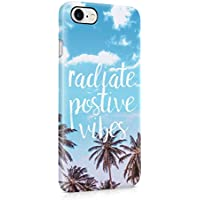 Radiate Positive Vibes Tropical Beach Palms Snap On Back Plastic Phone Cover Shell For Apple iPhone 7 Custodia