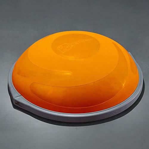 ZHLXZ Half Ball Balance Trainer, Ø 60Cm Inkl Hand Pumpe Beidseitig Nutzbar,Orange,C -