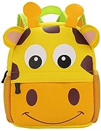 Yeelan impermeable bolso de escuela / Mochila para niños (jirafa)