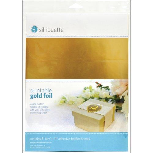 Lamina stampabile Silhouette, oro