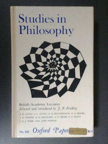 Studies in the Philosophy of J. N. Findlay by R. Cohen (1985-06-30)