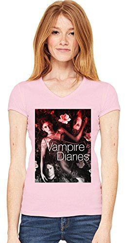 The Vampire Diaries Damen V-Ausschnitt T-Shirt XX-Large