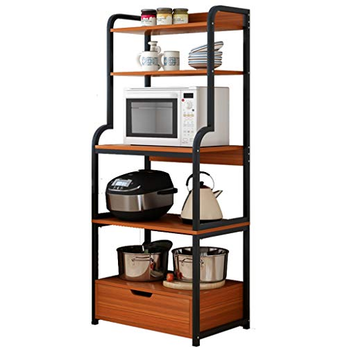 Gjrff Microondas Horno de Carro Estante de la Cocina del gabinete del hogar Condimento de Almacenamiento en Rack Multi-Capa Pot Cuenco de Almacenamiento for Horno Shelf - Tamaño -165 * 60 * 30cm