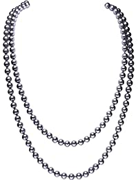 "BABEYOND Perla de Imitación Flapper Collar Largo de Perla Artificial Vintage 55"" Diámetro de Perla 0.315"""