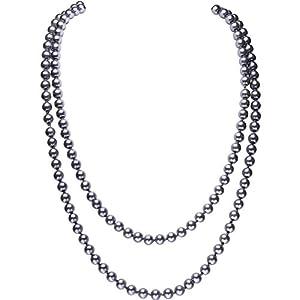 BABEYOND Modische Imitation Perlen Kette Flapper Art Deco 1920s Gatsby Kostüm Accessoires Lange Perle Halskette 150 cm / 59″