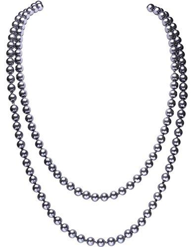 Flapper Perlen Kostüm - BABEYOND Modische Imitation Perlen Kette Flapper Art Deco 1920s Gatsby Kostüm Accessoires Lange Perle Halskette 150 cm / 59