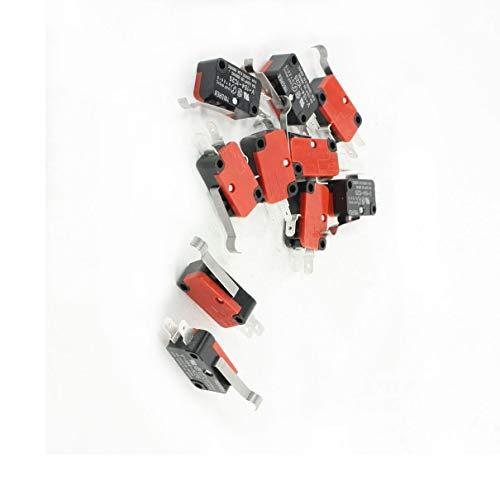 Aexit Netzteil-Verbindungsstecker SPDT Short Flachhebelbetätiger Momentary Micro Limit Switch 0.6A 125VDC -