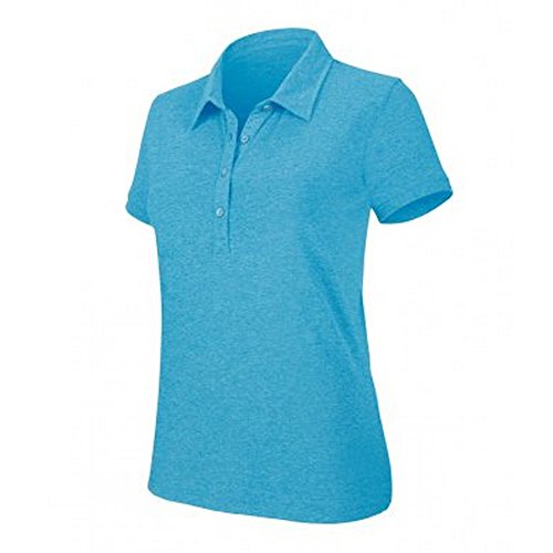 Kariban - Polo uni - Femme Bleu tropiques chiné