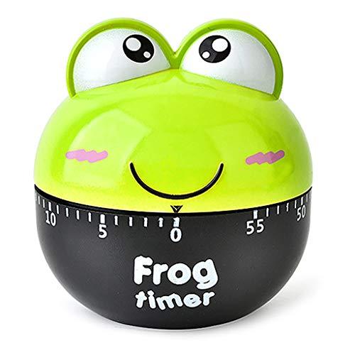 Fogun Cartoon Frosch Timer Kochen Mechanischer Alarm Schlaf Erinnerung Uhren Küche Zubehör grün