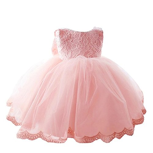YiZYiF Kleinkinder Baby Mädchen Kleid Blumenspitze Prinzessin Kleid Hochzeit Partykleid Tüll Festzug Gr. 68 74 80 86 82 (80 (Herstellergröße: 70), Rosa) (Raum Kostüme Bälle)