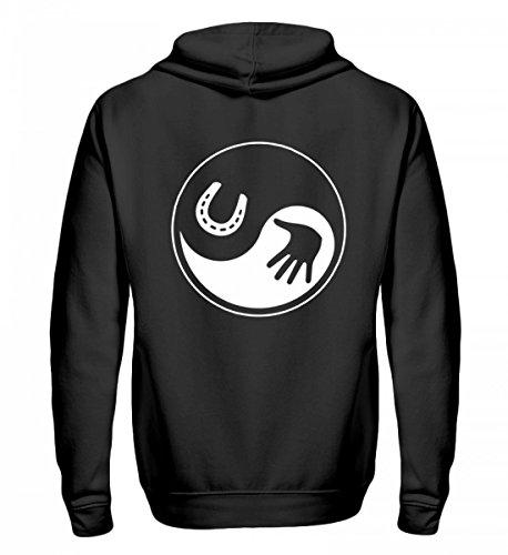 Hochwertiger Zip-Hoodie - Das Yin und Yang für Pferde Fans!