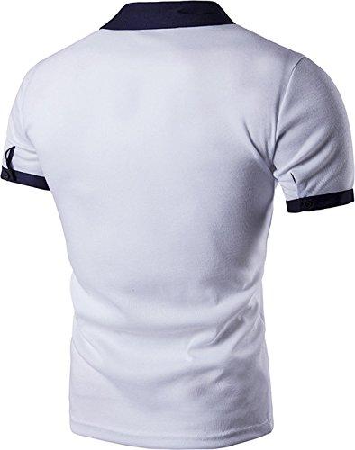 Sportides Herren Poloshirt Weiß