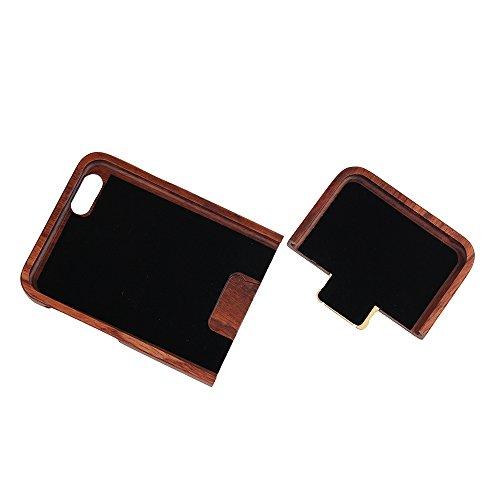 Coque iPhone 7 Anti Choc Case en Bois Naturel Forepin® Réel Etui Couvert et Housse en Wood Dur dans Motif de Sculpté élégante Protecteur pour iPhone 7 (Lion) Oiseau