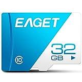 EAGET T1 Micro SD Karte Hochgeschwindigkeits UHS-I Flash TF Micro SDXC Speicherkarte für Smartphones Tablet (128 GB 64 GB 32 GB 16 GB Klasse 10)