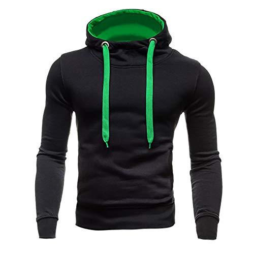 MIRRAY Herren Herbst Winter Neue Art Reine Farbe Kordelzug mit Kapuze Pullover Mode Trend Bluse