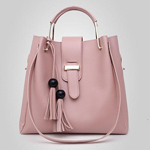 fc05428658459 ... Frauen Designer Handtaschen Tote Handtasche Umhängetasche Eimer Tasche  3er Pack Pink ...