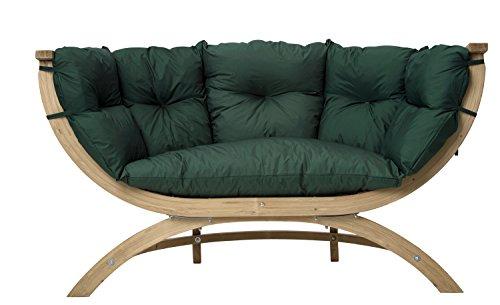 AMAZONAS Lounge Sofa Siena Due Green weatherproof aus FSC Fichtenholz ca. 170 x 95 x 65 cm bis 250 kg in Grün