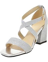 AicciAizzi Mujer Moda Tacon Ancho Sandalias  Zapatos de moda en línea Obtenga el mejor descuento de venta caliente-Descuento más grande