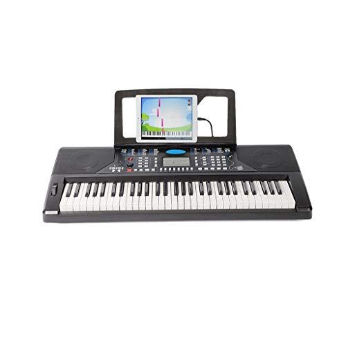 Lingling-tastiera tastiera per adulto principiante smart keyboard 61 regalo di compleanno chiave (colore : nero)
