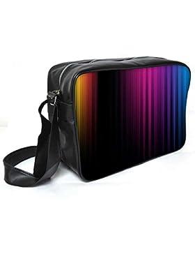 Snoogg Muster Farbe design Leder Unisex Messenger Bag für College Schule täglichen Gebrauch Tasche Material PU