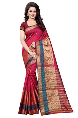 Fab Zone Durga Puja SareeCotton Silk Jaquard Zari WorkDesigner Branded Saree