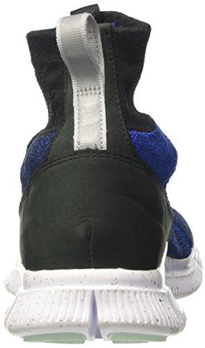 Nike Free Flyknit Mercurial Fc, Chaussures de Football Homme Multicolore (Schwarz / Racer Blau - Weiß - Metallisches Silber)