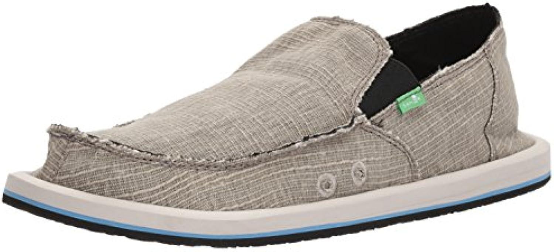 Sanuk Vagabond Grain Slub Shoes Men Grey 2018 Schuhe