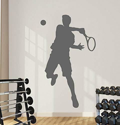 er Sport Vinyl Kunst Dekoration Spielzimmer Aufkleber Tennis Spielzimmer Poster Jungen Kinder Aktive Recquets Wandbilder 47 * 72 Cm ()