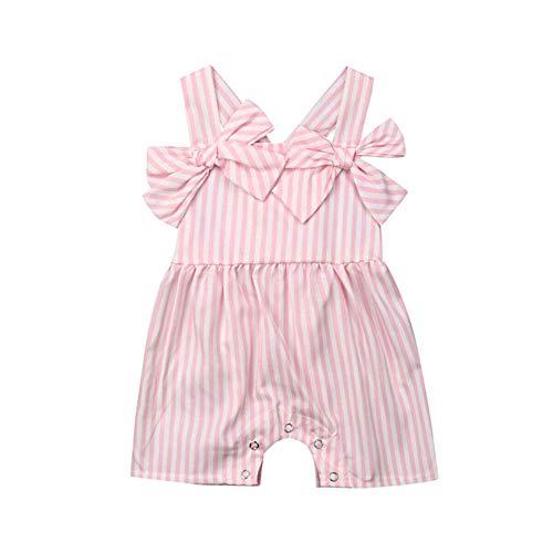 Baby Mädchen Kleidung Sommer Baby Strampler gestreiften Säugling Baby Overall Prinzessin Overall Kleinkind Mädchen Kostüm ()
