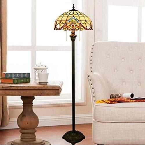 JKL Tiffany-Stil Stehlampe, handgemachte 16-Zoll-Glasmalerei Stehlampen, Wohnzimmer Esszimmer...