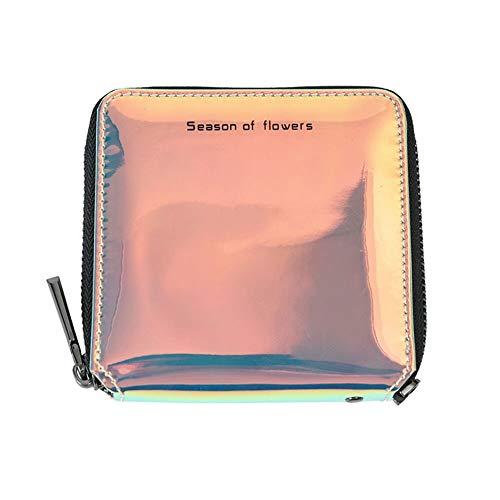 Quaan Frau Exquisit Süss Einfach Kurz Brieftasche Münze Karte Reißverschluss Variable Farbe Geldbörse Halter Geschäft Einfach Telefon Süßigkeiten Geschenk Party elegant zuversichtlich Paket
