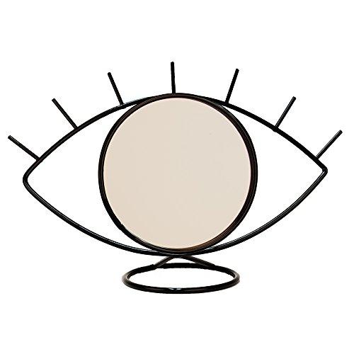 Helio Ferretti HF Spiegel in Form von Auge, Metall und Glas, Schwarz, 32x 20x 17cm