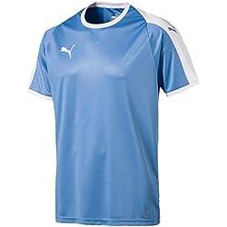 PUMA Liga Jersey Camiseta, Hombre, Azul (Silver Lake Blue/White), L