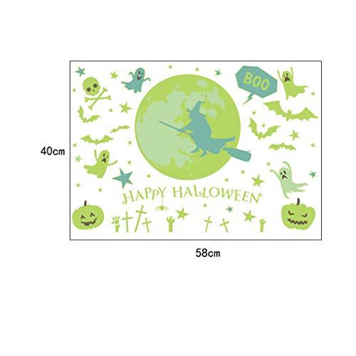 Fornateu Halloween-Party-Thema-Wand-Aufkleber PVC-Abziehbilder Badezimmer Wohnzimmer Schlafzimmer Pub-Club glühenden Dekor