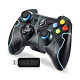 Wireless Gamepad, EasySMX ESM-9013 2,4G Wireless Game Controller Joysticks Dual Vibration TURBO für PS3 / Android Phone Tablet / Windows-PC, MEHRWEG