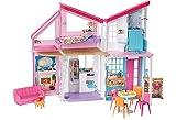 Barbie- Casa di Malibu, Playset Richiudibile su Due Piani con Accessori, Giocattolo per Bambini 3+ Anni, FXG57