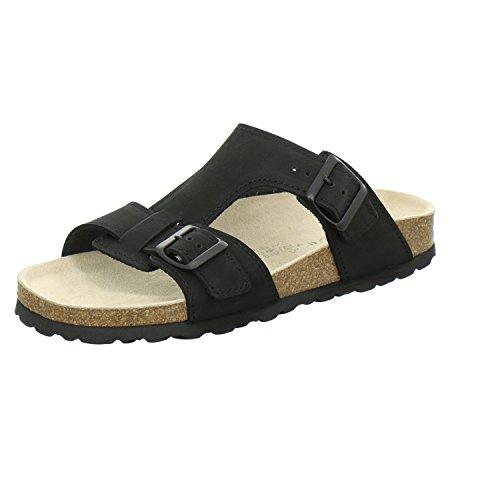AFS-Schuhe 3162, Pantolette Herren, Bequeme Hausschuhe, sportliche Arbeitsschuhe, Made in Germany Größe 43 EU Schwarz (schwarz)