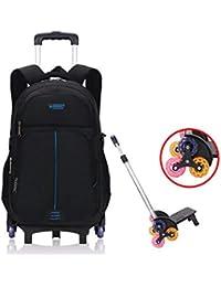 Mochila con Ruedas - Durable Rolling Daypack Bolsa de Viaje con Ruedas Elegante Daypack Bolsas de